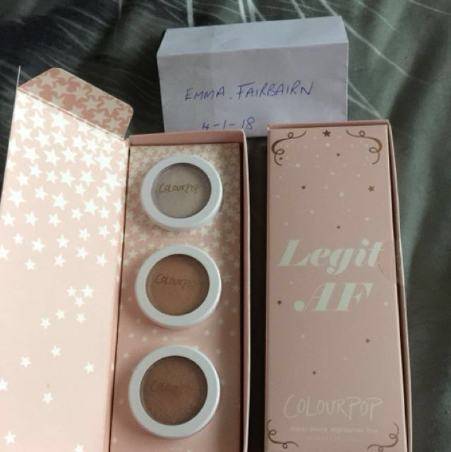 Colourpop Legit AF Supershock highlighter trio. 2 available
