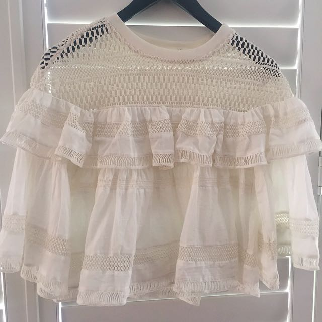 Cropped Frill Top