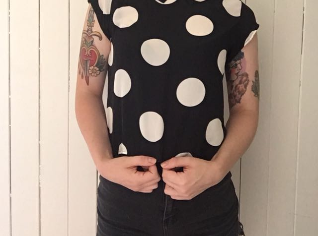 Cropped polka dot top