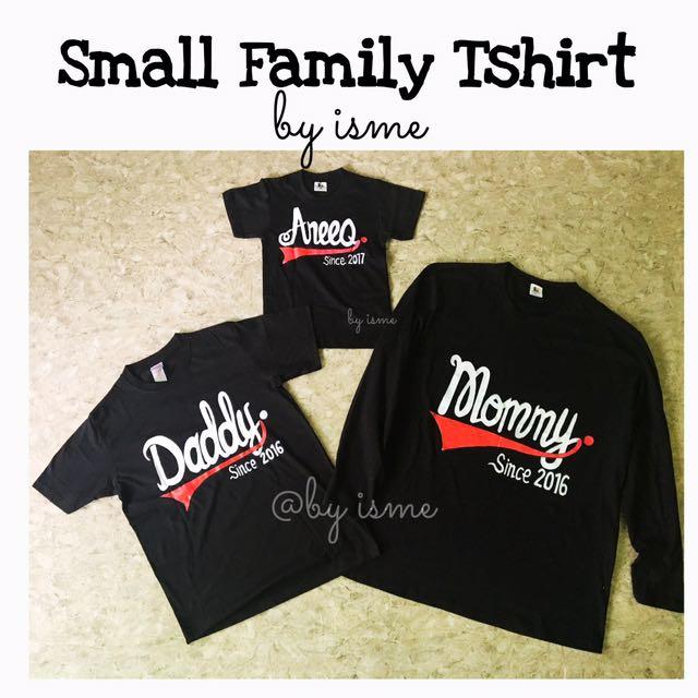 Custom Design Small Family Tshirt Muslimah Fashion Tops On Carousell