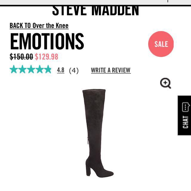 Emotions Steve Madden over the knees boots