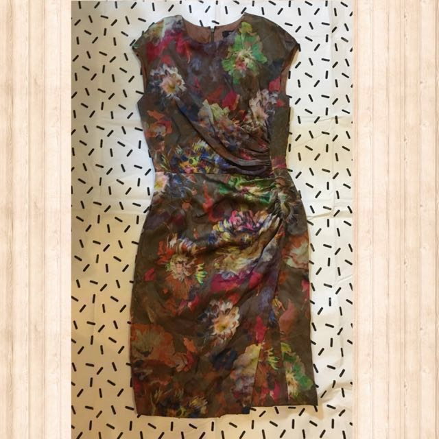 Etro Floral Silk Dress Size 42