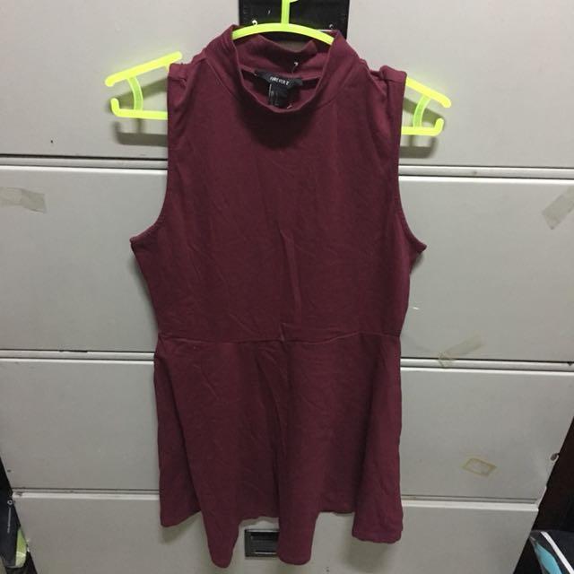 F21 Turtle Neck Skater Dress