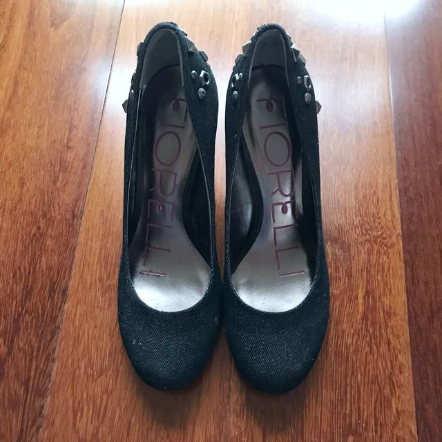 Fiorelli Denim Heels with Studs Size 7 1/2