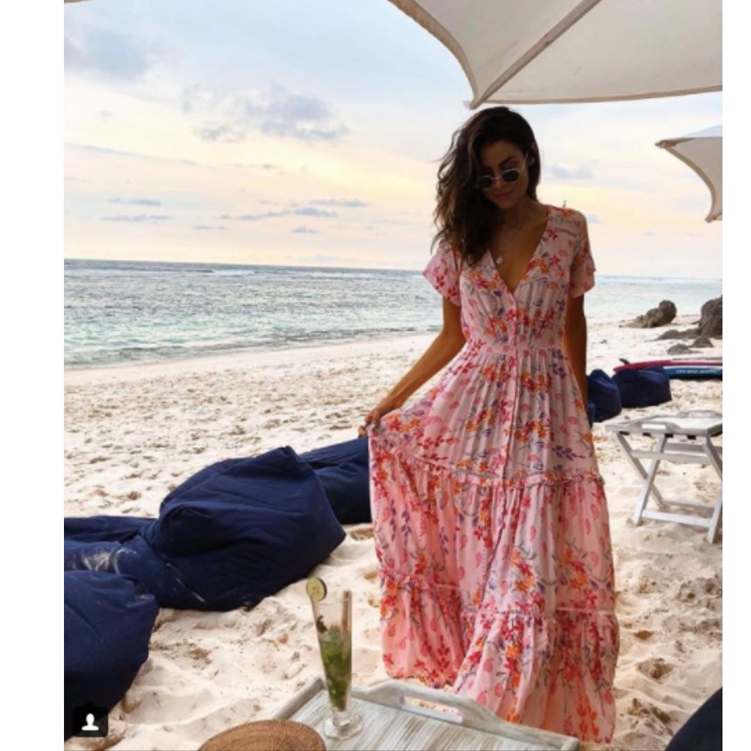 Floral print maxi dress size XS