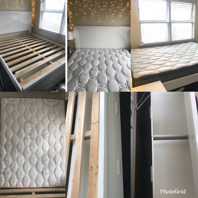 Full White Queen Bedroom set