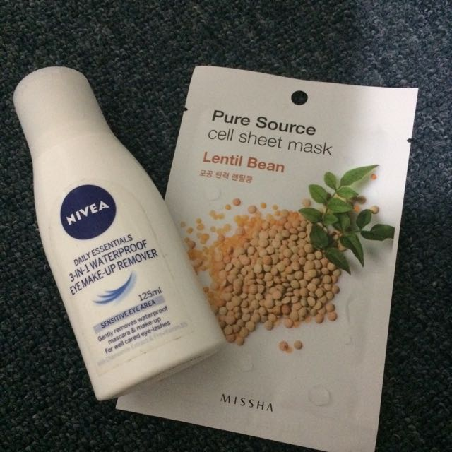 Get a FREE MASK when purchased Nivea eye makeup remover