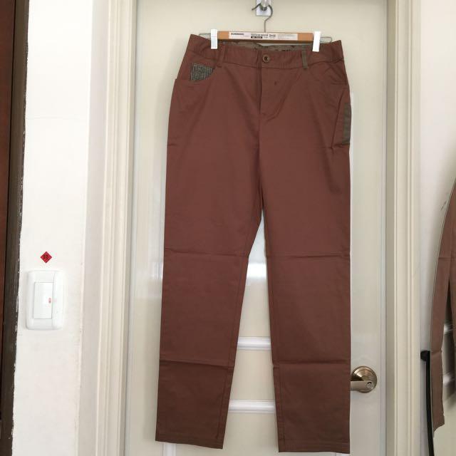 Gozo 咖啡色薄款長褲