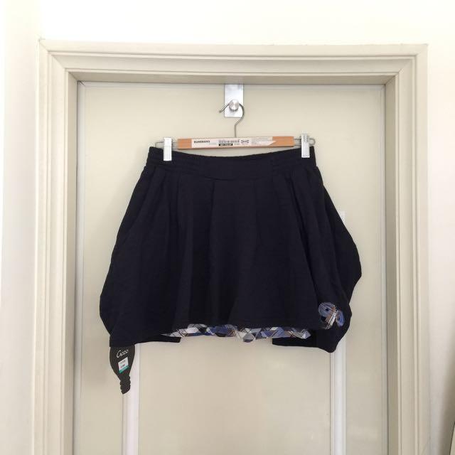 Gozo 格紋內裡短裙
