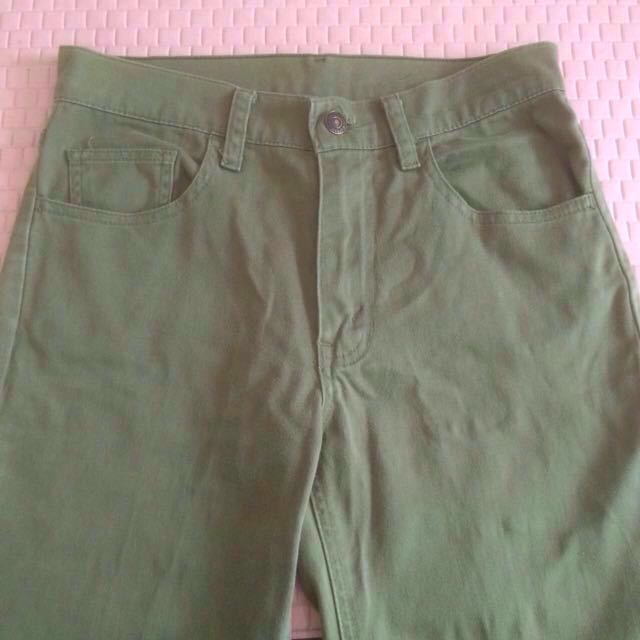 Green army jeans