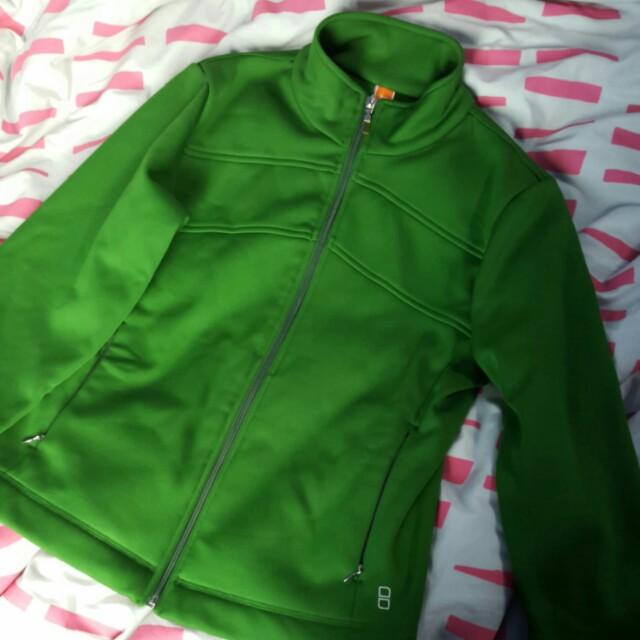 Green microfiber jacket
