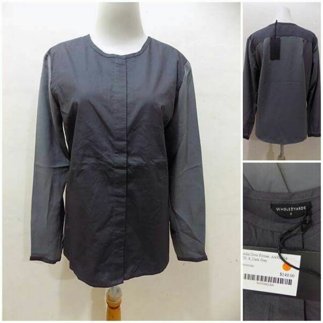Grey Office Blouse
