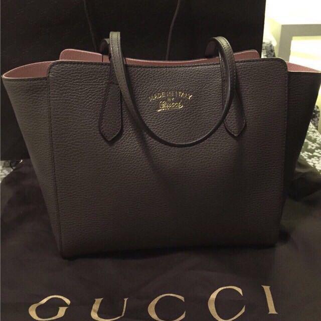 Gucci swing 牛皮肩背包