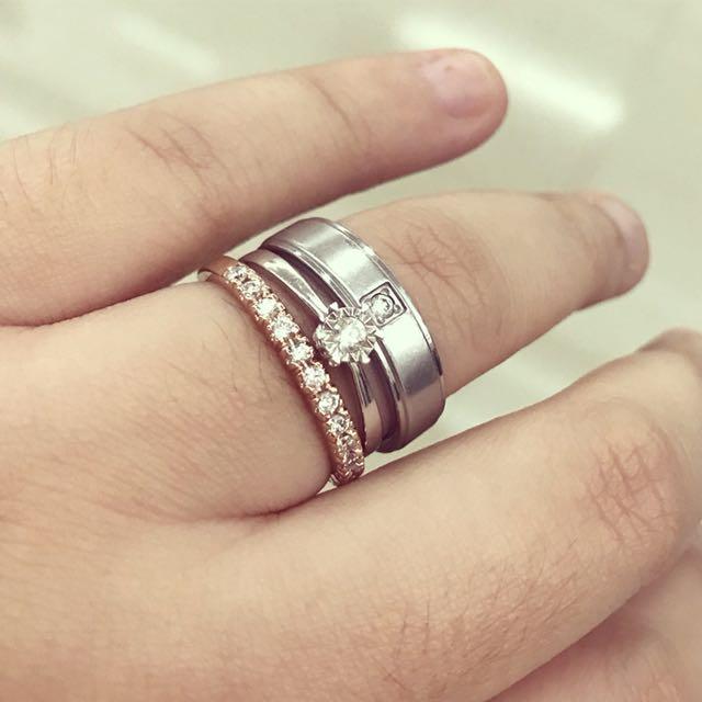 Half Diamond Eternity Ring