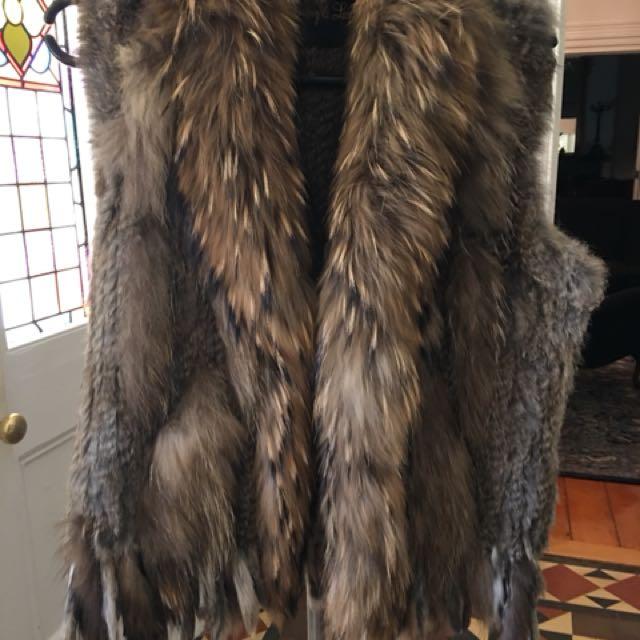 Harmony & Lawson fur vest