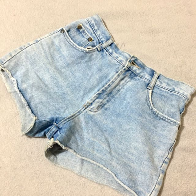 Highwaist Maong Short