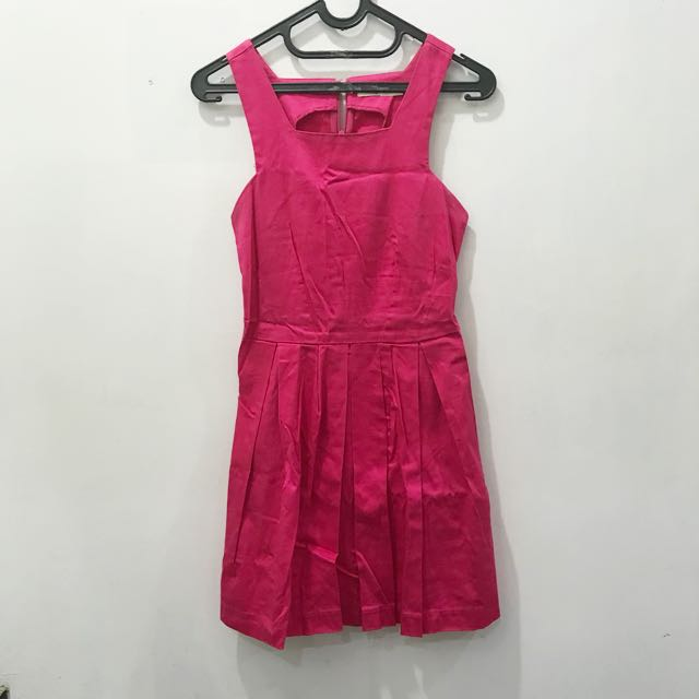 Hot Pink mid dress