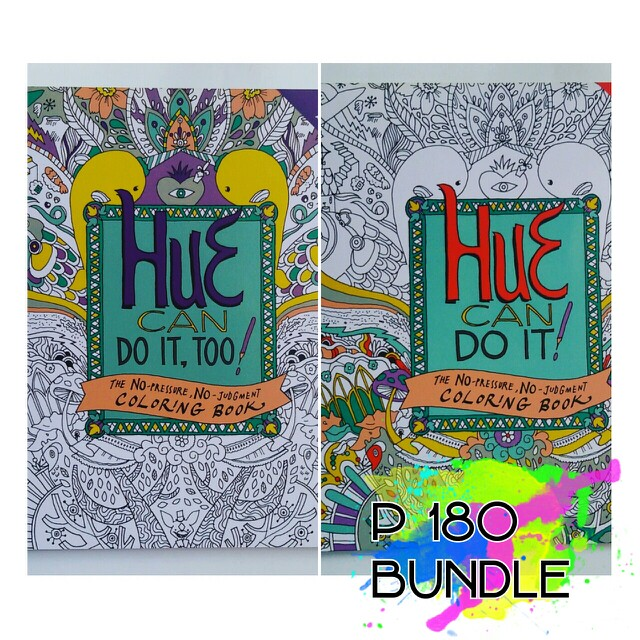 Hue Can do it adult coloring book Bundle