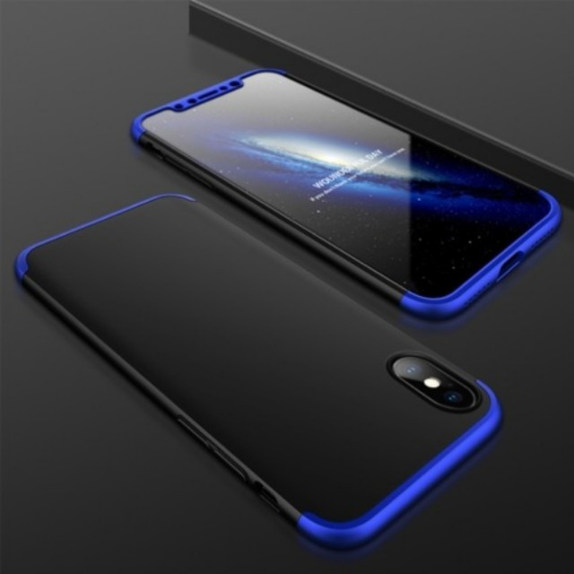 iPhone X 360 Full Protection 3 in 1 Slim Case + FREE Glass