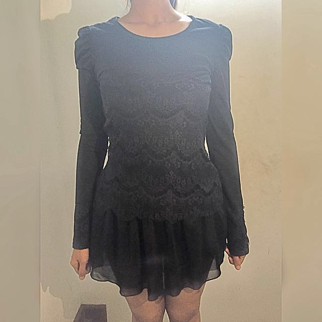 J.Rep Black Lace Minidress