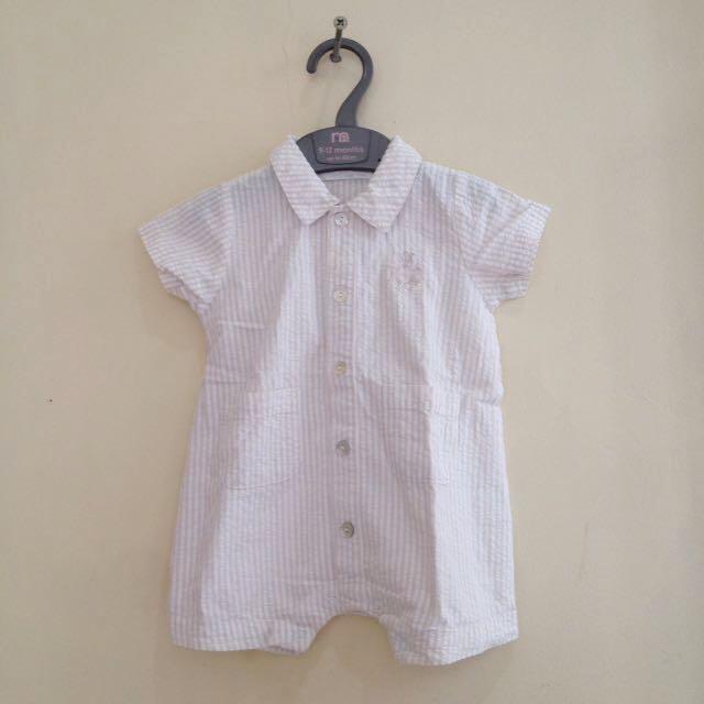 Khaki romper-shirt