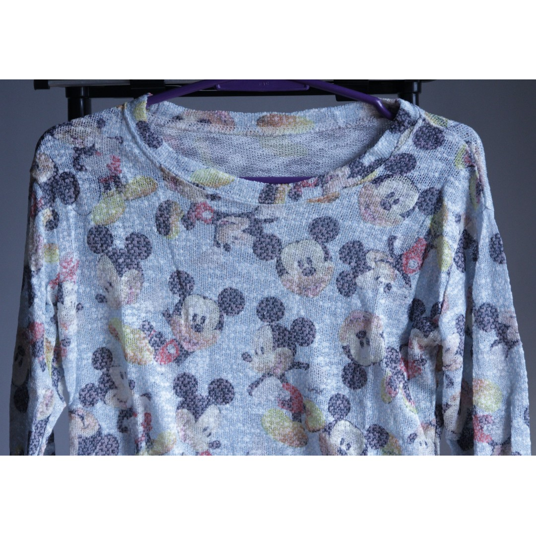 Knitted Mickey Mouse Sweater