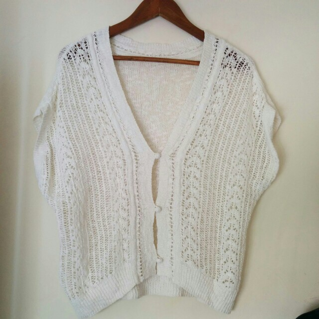 Knitted white outer