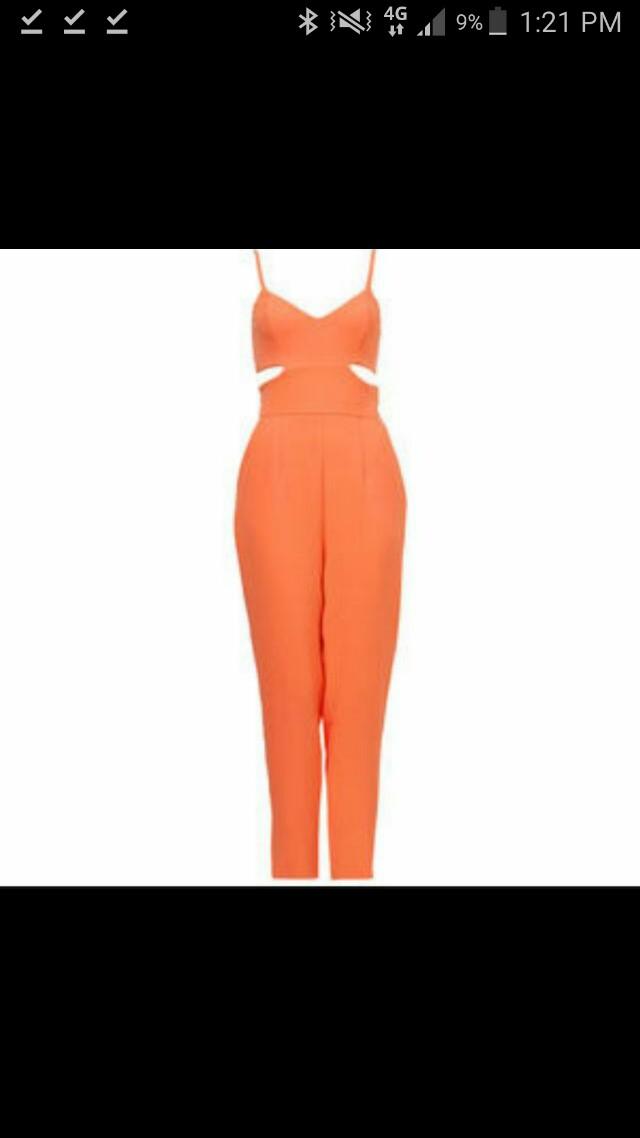 Kookai Abbey Jumpsuit Orange