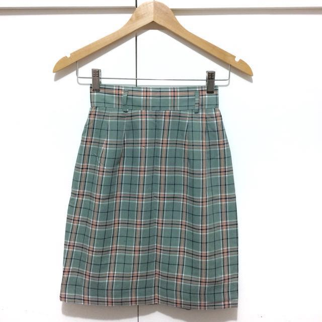 Korean Plaid Skirt