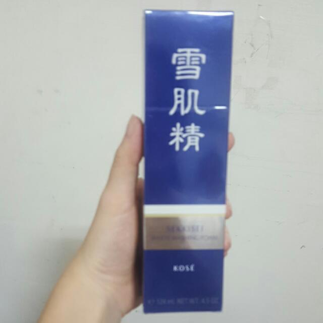 (全新)日本帶回KOSE雪肌精高絲淨透洗面乳130g