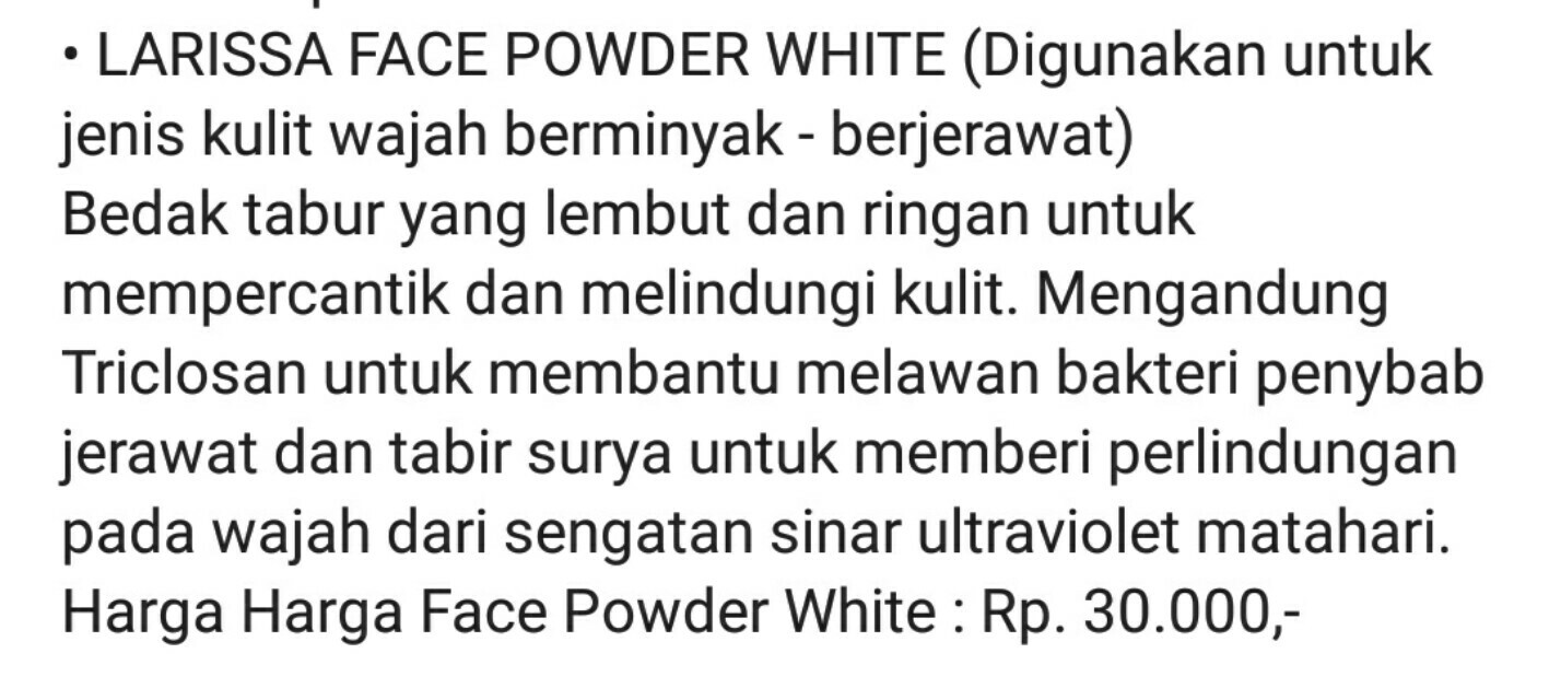 Larissa Face Powder