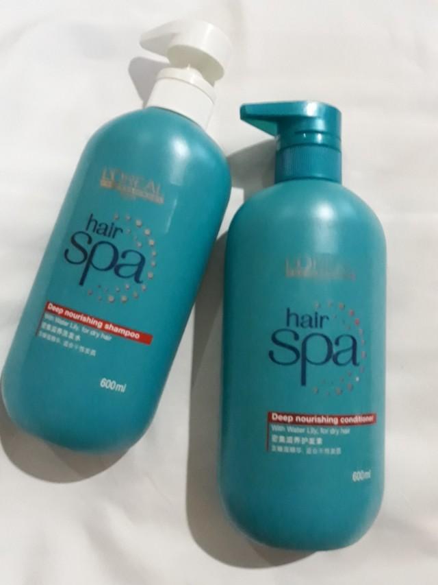 LOREAL hair spa shampo dan Loreal hair spa conditioner