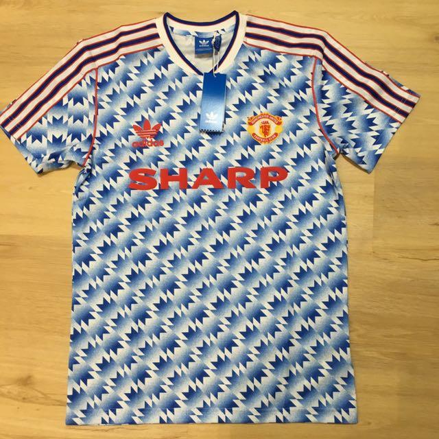 37d036d77a8 Manchester United 1990 1992 adidas original retro kit