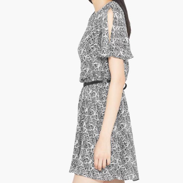 Mango Butterfly Print Dress