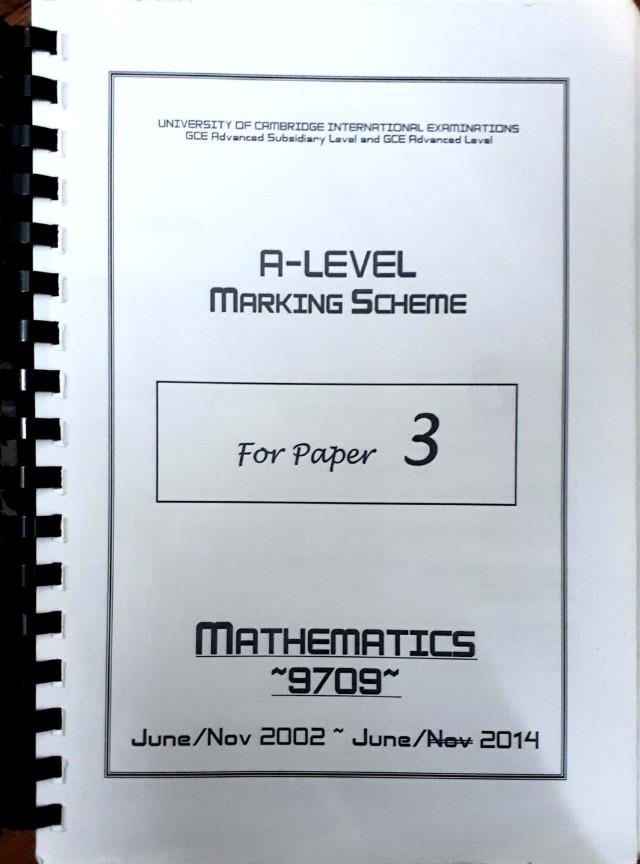 Mathematics A levels past paper 3 questions and Mark scheme