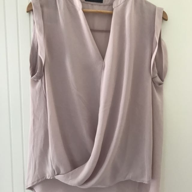 Mauve Pink Sleeveless Blouse