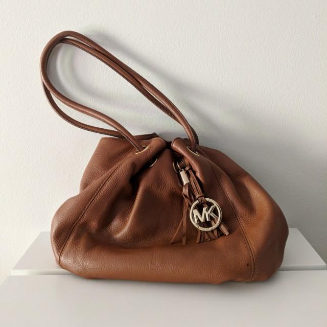 Michael Kor Tan Leather Bag