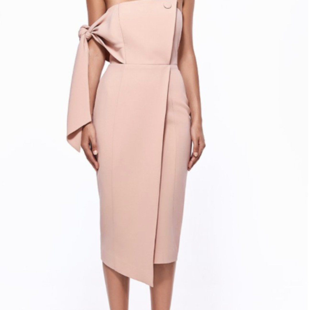Misha Collection Romi Structured Dress in Blush Pink