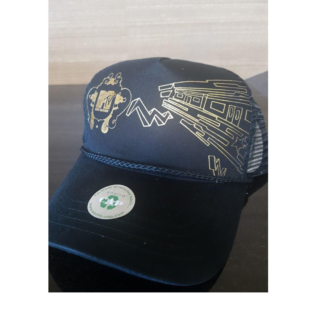 aef953932e6 MTV Cap Music Television Collection - Gold side Logo  CarouPay ...