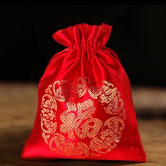 Multipurpose Satin Red Bag / Red Packet / Fabric Red Bag / Good Luck Bag