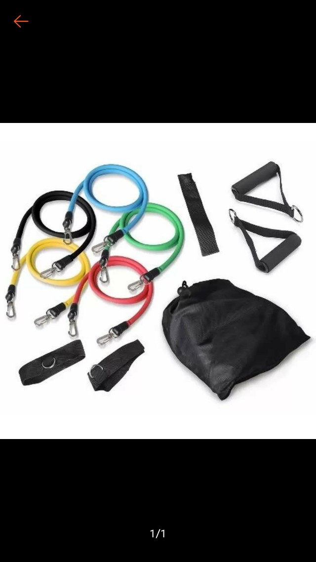 Muscle Rope Resistance Band 11 Pcs with Cover Bag