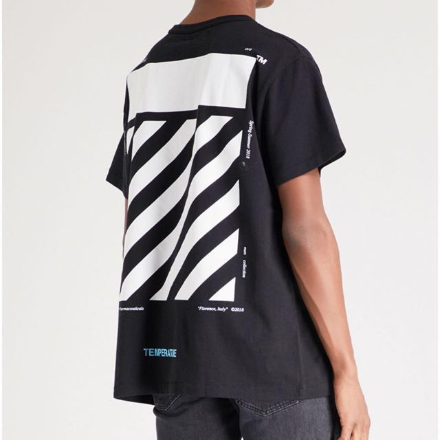 [NEW] Off-White SS18 Temperature Diagonals Tee
