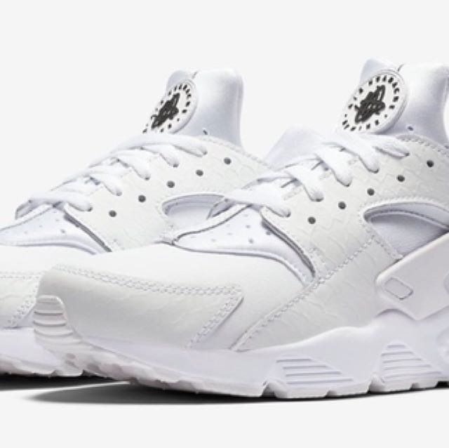 Nike air huarache ultra leather all white