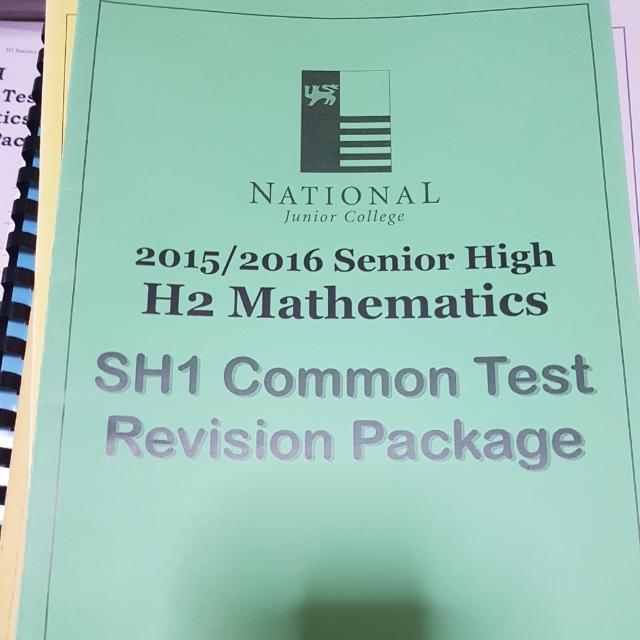 NJC H2 Math Revision Booklets, Books & Stationery, Textbooks on ...