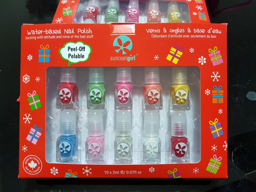 Non-toxic Child Safe Water-based Nail Polish Set Kit for Girls ...