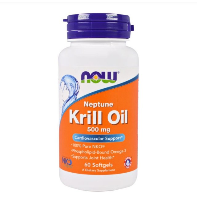 IN STOCK Now Foods Krill Oil 500mg 60 Softgels