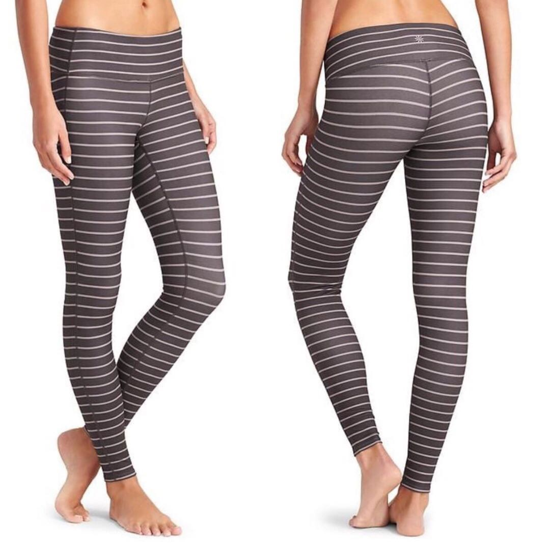 dab9a52947fec NWT Athleta Stripes Chaturanga Tight XXS (Shale/Foxtail), Women's ...