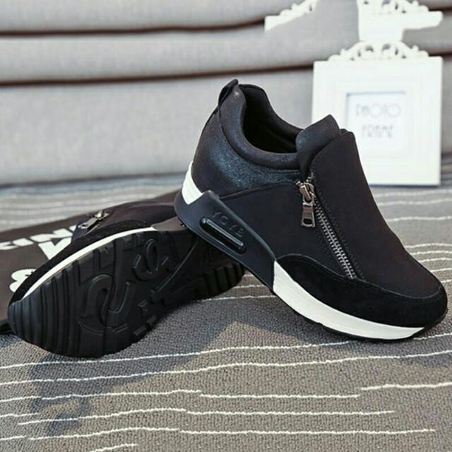 Open Barter / Sale Sepatu Zip Wedges Sneakers