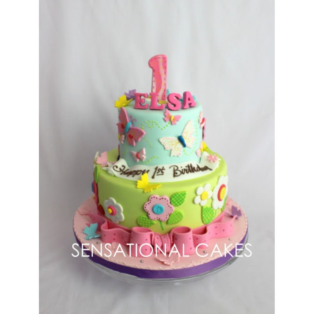 Pastel Pink Number 1 Theme 3d Cake Singapore For 1st Birthday Cake