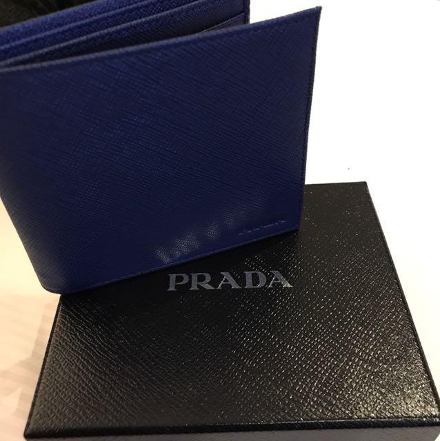 da532a4e65fc sweden prada blue mens wallet bf0a8 e9b09